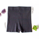 -Black Color -Ribbed -Mid Thigh Length -Elastic Waistband -Matching Set (Bottoms) -Bike Shorts  Materials: 70% Viscose | 30% Polyester   W3126 SHORT BLU