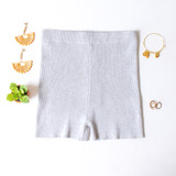 -Grey Color -Ribbed -Mid Thigh Length -Elastic Waistband -Matching Set (Bottoms) -Bike Shorts  Materials: 70% Viscose   30% Polyester   W3126 SHORT GRY