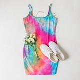 -Tye Dye Color -Spaghetti Straps -Non Adjustable  -Thick Material -Bodycon -Dress  Materials: 95% Cotton | 5% Spandex  DI5106 DRESS TYDY