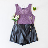 -Purple Color -Knit Material -Thick Straps -Breathable Fabric -Tank Top  Materials: 82% Polyester | 18% Rayon  T1703 TANK PRP