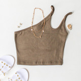 -Dark Green Color -Double Strap -One Shoulder -Ribbed -Crop Top  Materials: 95% Cotton | 5% Spandex  CT5269 CROP GRN ONE SIZE