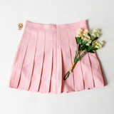 -Light Pink Color -Zipper Closure -Lined with Shorts -Pleated -Tennis Skirt -Skort  Materials: 94% Polyester | 6% Spandex  CS5078 SKIRT PNK
