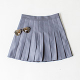 -Grey Color -Zipper Closure -Lined with Shorts -Pleated -Tennis Skirt -Skort  Materials: 94% Polyester | 6% Spandex  CS5078 SKIRT GRY