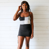 -White, Black, and Grey Colors -Color Block Pattern -Ribbed -Comes in 2 Colors -Crop Top -Tank  Materials: 89% Polyester | 9% Rayon | 2% Spandex  A532 TANK BLK