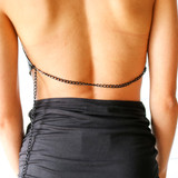 -Black -Chainmail Material -Adjustable Neck Clasp -Adjustable Waist Clasp -One Size -Halter Top  Materials: 100% Metal  CHAIN TOP BLKSCP ONE SIZE
