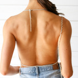 -Silver -Chainmail Material -Adjustable Neck Clasp -Adjustable Waist Clasp -One Size -Halter Top  Materials: 100% Metal  CHAIN TOP SLVSCP ONE SIZE