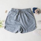 -Grey Color -Elastic Waistband  -Drawstring -Thick Material -Pockets -Shorts  Materials: 95% Polyester | 5% Spandex  50776PNH SHORT GRY
