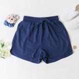 -Navy Blue Color -Elastic Waistband  -Drawstring -Thick Material -Pockets -Shorts  Materials: 95% Polyester | 5% Spandex  50776PNH SHORT NVY