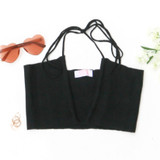 -Black Color -Criss Cross Drawstrings -Soft Sweater Material -Keyhole Cut Out -Halter Top -Crop Top  Materials: 50% Viscose | 28% Polyester | 22% Nylon  51355TYH CROP BLK