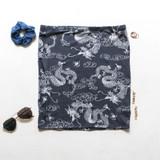 -Powder Blue Color -Dragon Print -High Waisted -Bottoms -Skirt -Set  Material: 95% Polyester | 5% Spandex  S1318 SKIRT DGON