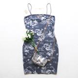 -Powder Blue and White Color -Dragon Print -Bodycon -Spaghetti Straps -Square Neckline -Fabric Stretches -Dress  Material: 95% Polyester | 5% Spandex  D4004 DRESS DGON