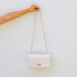 WHITE & GOLD LUXURY BAG