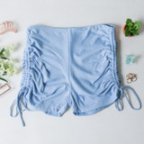 -Baby Blue Color -Thick Material -Drawstring on Sides -Can Be Adjusted  -Biker Shorts -Shorts  Materials: 95% Polyester | 5% Spandex  PGI3356 SHORT BLU