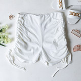 -White Color -Thick Material -Drawstring on Sides -Can Be Adjusted  -Biker Shorts -Shorts  Materials: 95% Polyester | 5% Spandex  PGI3356 SHORT WHT