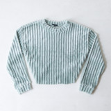 -Mint Color -Crew Neck -Ribbed Pattern -Super Soft Material -Long Sleeves -Sweatshirt  Materials: 100% Polyester  IT91396 SWTR MNT