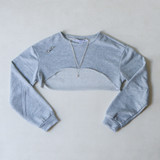 -Grey -High-Rise in Front -Crew Neck -Long-Sleeve -Pull-Over -Crop Top -Sweater  Materials: 100% Polyester  HF21F500 CROP GRY