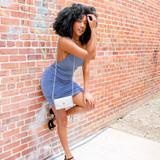 -Powder Blue Color -Spagetti Straps -Open Back -Ruching Up Sides -Drawstring at Bottom (Adjustable Length) -Dress  Materials: 95% Polyester   5% Spandex  FS22A085 DRESS BLU