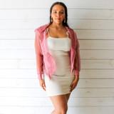 -Pink Color -Mesh Material -See-Through -Pockets -Zipper Closure -Hood -Jacket  Materials: 100% Polyester  M9JA501 JKT MESH