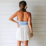 -Baby Blue Color -Collar -5 Buttons Up Front -Sleeveless  -Open Back -Crop Top -Tank Top  Materials: 100% Polyester  CT5770 TANK BLU