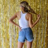 -White Bodysuit -Blue & Orange Floral Print -Racerback -Fabric Stretches -One-Piece (No Closure) -Bodysuit  Materials: 92% Nylon | 8% Spandex  GAMEDAY 2021 UFFLWR BODYSUIT