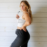 -White Color -Black Corset Style Stitching -Tank Top -Fabric Stretches -One Size Fits All -Crop Top  Materials: 95% Polyester | 5% Spandex  CT5991 CROP WHT ONE SIZE