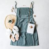 -Sage Green Color -Spagetti Straps -Open Back -Zipper Closure -Square Neckline -Pleated -Dress  Materials: 100% Polyester  FS22A677 SAGE DRESS