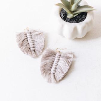 -Leaf Design -Tassel Style -Dangle Earring