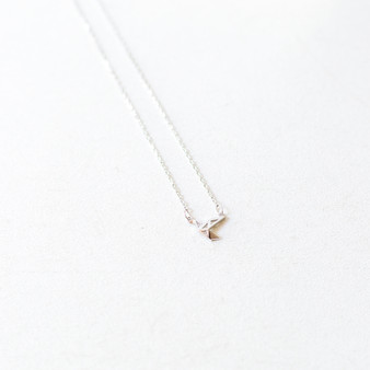 -Silver -Origami Crane -Chain -Adjustable Clasp -Necklace  CHARM NECKLACE 8