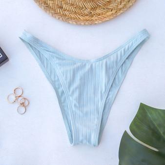 -Mint -Ribbed -Cheeky -Lined -Swim -Set -Bottoms  Material: 80% Nylon   20% Spandex  SWIM BOT 2 MINT