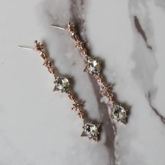 -Silver -Gem Stone Accents -Metal -Dangle -Earrings