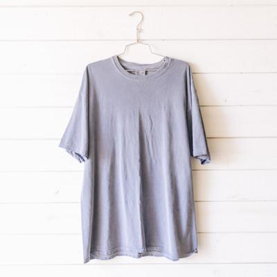 - Crew Neck  - Short Sleeves  - Blue Tee  - T-shirt Dress    Top is a size XL