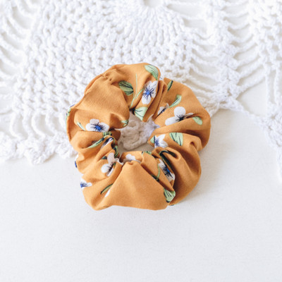 - Scrunchie  - Camel with Flowers