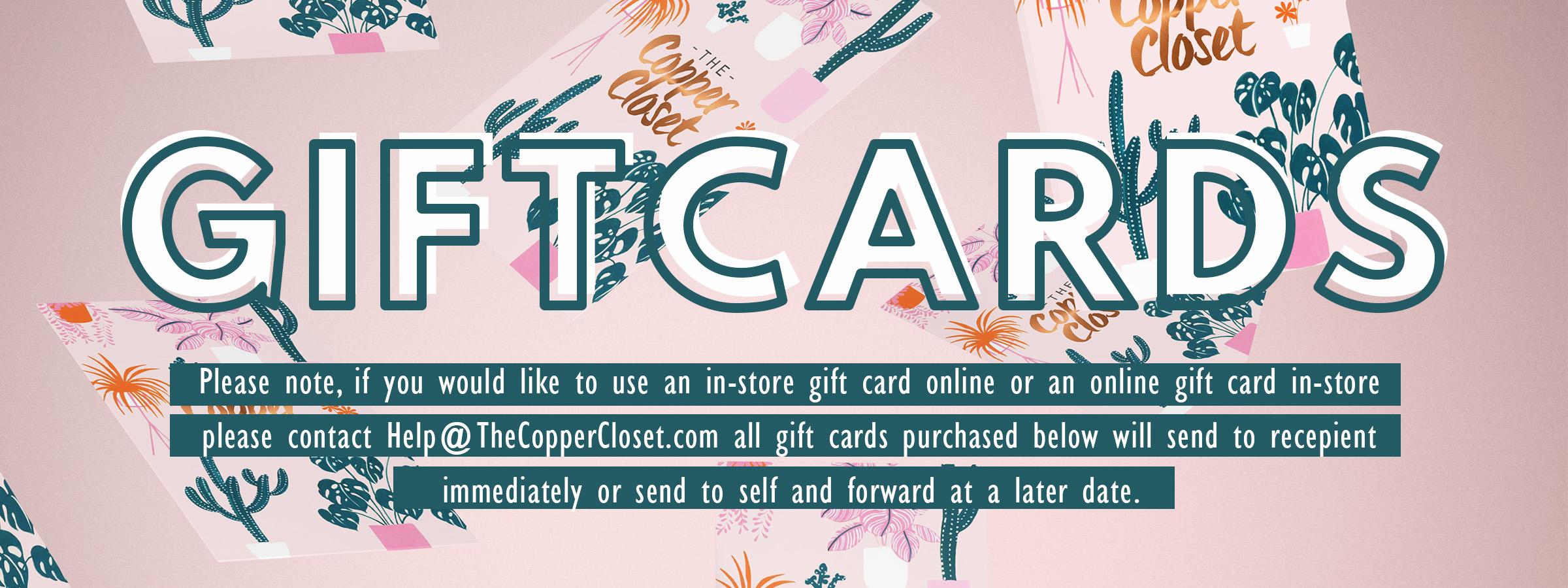 Gift Certificates The Copper Closet