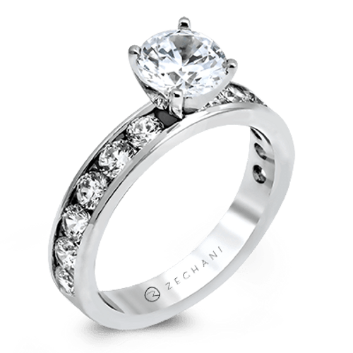 Zr16-a Engagement Ring 14k Gold White Semi