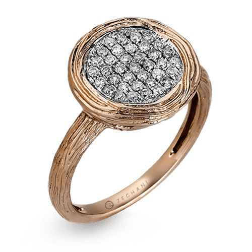 Zr853 Right Hand Ring 14k Gold White