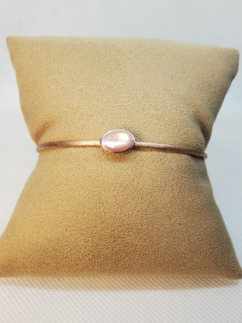 Kabana Pink Mother of Pearl Cuff Bangle