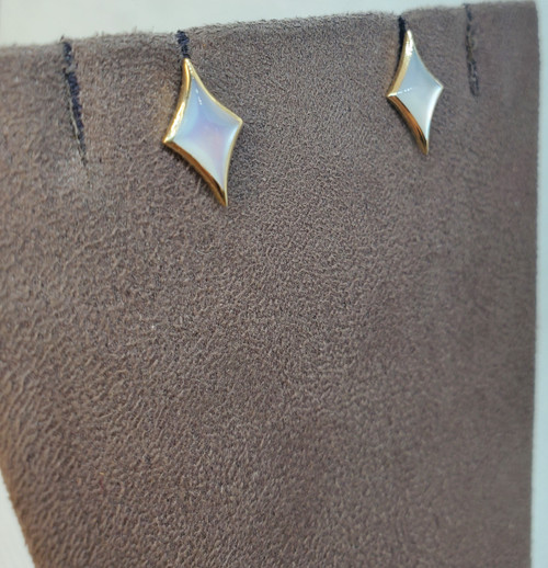 Kabana White Mother of Pearl Star Studs