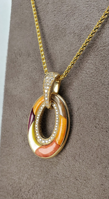 Kabana Spiny Oyster Mother of Pearl with Diamonds