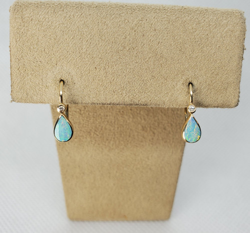 Kabana Austrailian Opal Yellow Gold Earrings