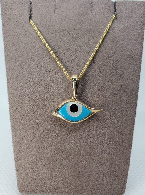 Kabana Mother of Pearl, Onyx & Turquoise Evil Eye