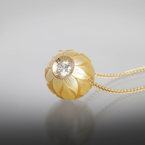 Galatea Golden Daisy Pendant