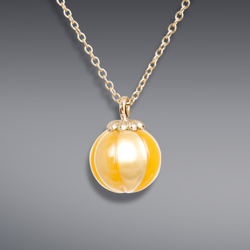 Galatea Carved Golden Pearl Pendant