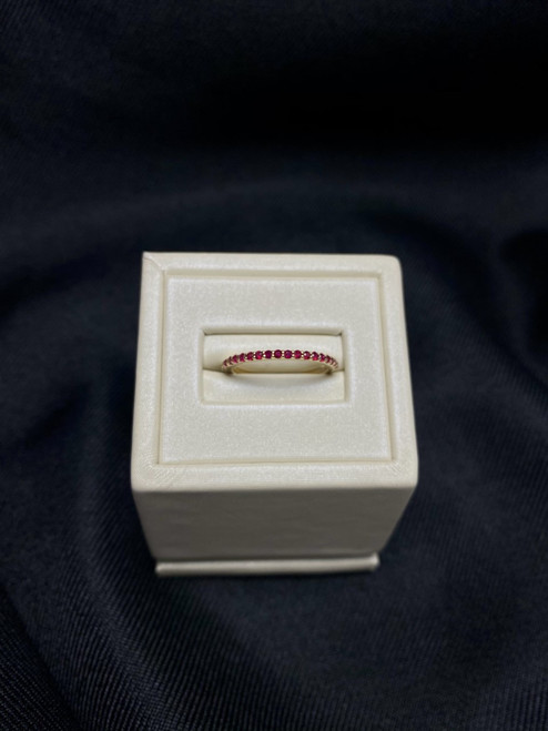 14k Yellow Gold Ruby Stackable Band