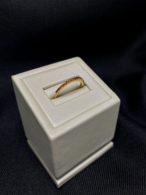 14kt Yellow Gold Citrine Stackable Band