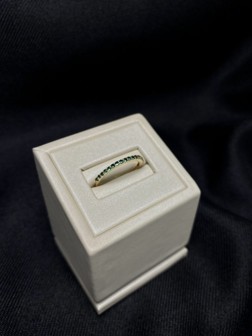 14kt Yellow Gold Emerald Stackable Band