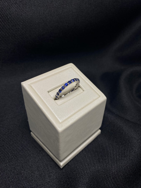 14kt White Gold Sapphire Stackable Band