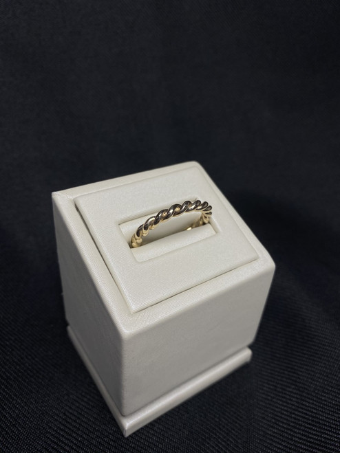10kt Yellow Gold Rope Ring