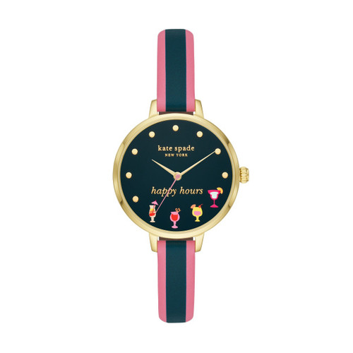 Kate Spade Happy Hour Watch with Leather Band
