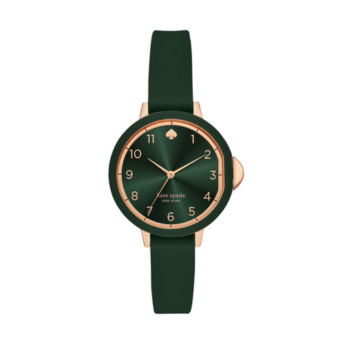 Kate Spade Watch with Forest Green Silicone Band