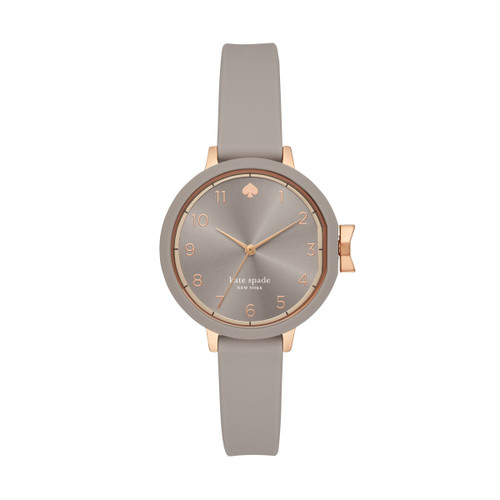 Kate Spade Watch with Light Grey Silicone Band
